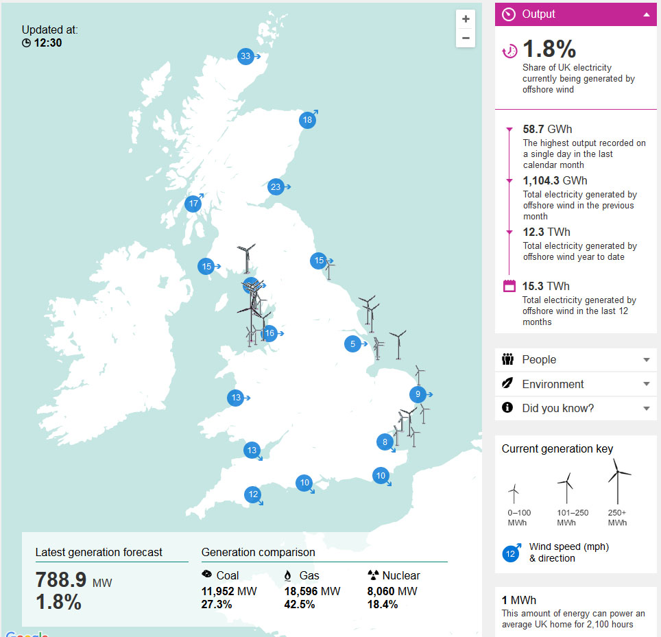Crown Estate Launches Interactive Electricity Map Offshore Wind