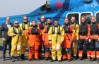 Northern HeliCopter's pilots fly their first passengers to the wind farm Global Tech I. (Photo: Marion Bubolz)