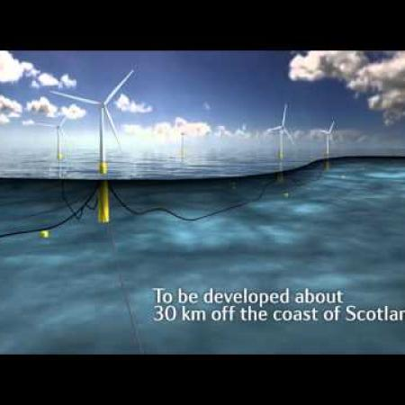 The worlds first floating wind farm