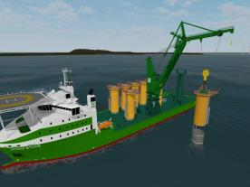 The multipurpose vessel Living Stone is being built by the Spanish shipyard LaNaval near Bilbao where recently the keel laying ceremony took place. (Graphic: DEME)