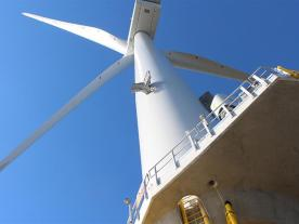 This is the first time the MHI Vestas 8MW wind turbines have been used commercially offshore. (Photo: DONG Energy)