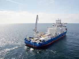 After the naming ceremony the NKT Victoria headed out for its first cable-laying project north of Scotland. (Photo: NKT)