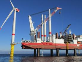 TÜV SÜD presented the project certificate for the Sandbank offshore wind farm off the coast of Sylt in the North Sea. (Photo: Vattenfall)