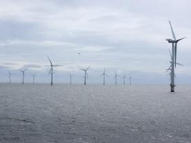 Vattenfall's largest offshore wind farm to date, Horns Rev 3, is being built on the west coast of Denmark. The overall investment volume will be approximately one billion euros. (Photo: Vattenfall)