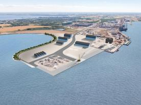 Lindø port extension will also see the development of Lindø Coastal Park that will eventually enable public access. (Graphic: Lindø Industripark)