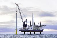 A2SEA's Sea Installer, here at work at Borkum Riffgrund 1, will install part of the turbines at planned 1.2 GW Hornsea Project One. (Photo: A2SEA)