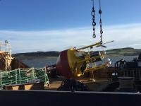 Transportation of the LiDAR buoy to the offshore site (Photo: Seagreen Wind Energy Ltd.)