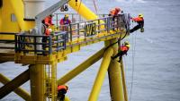 The G9 HSE statistics report provides incident data for UK offshore wind farm sites and useful references for all those involved in improving health and safety performance in the offshore wind industry. (Photo: alpha ventus / DOTI)