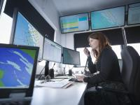 Coordination from a centralised point depends on good communication technology. In this case the communication takes place at Dong Energy's Westermost Rough Offshore Wind Farm. (Photo: Dong Energy)