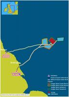 The 4 consented Dogger Bank offshore wind projects have been assigned to the 3 Forewind shareholders, innogy, SSE and Statoil (Graphic: Ordnance Survey Data © Crown copyright and database right 2017)