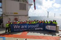 The turbines are installed: Global Tech 1 is almost ready to begin operating.