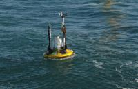 RWE's first trial with a Fugro buoy was supported by the research and development programme FLOW (Far and Large Offshore Wind), funded by the Dutch Ministry of Economic Affairs. (Photo: RWE Innogy)