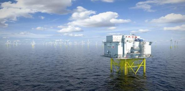 Working closely with platform manufacturer Aibel, Dogger Bank Wind Farm will use an unmanned HVDC substation design – a world-first, slashing weight and cost. Upon first installation in Dogger Bank A during 2023, the project's HVDC facility will also become the largest-ever at 1.2GW, marking a tremendous scale up from the previous industry benchmark of 0.8GW (pict.: Aibel)